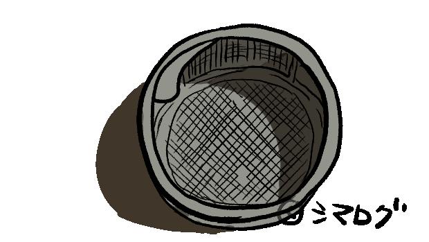 備え付けの目の細かい排水口ゴミ取り